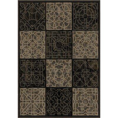 Anderle Gray/Black Area Rug Rug Size: 67 x 98