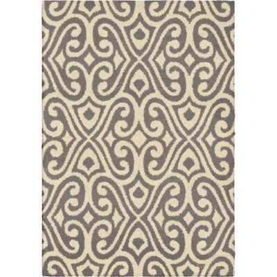 Andersen Gray/Ivory Area Rug Rug Size: 53 x 76