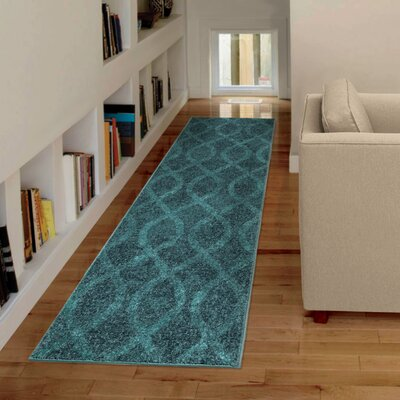 Angarano Blue Area Rug Rug Size: Runner 23 x 8