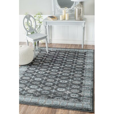 Revival Gray Area Rug Rug Size: 8 x 10