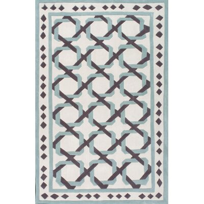 Briggs Tangled Hand-Tufted White Area Rug Rug Size: 5 x 8