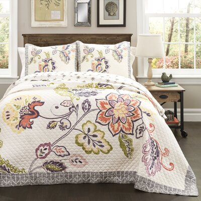 Angel 3 Piece Reversible Quilt Set Size: King