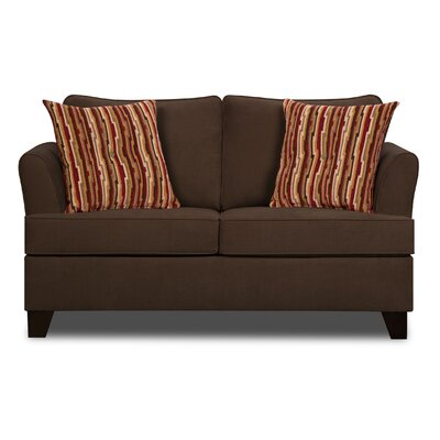 Simmons Upholstery Antin Loveseat Sleeper Sofa Upholstery: Chocolate
