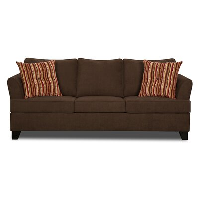 Simmons Upholstery Antin Queen Sleeper Sofa Upholstery: Chocolate