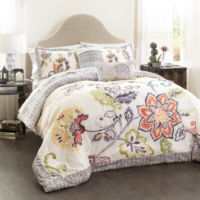 Angel 5 Piece Reversible Comforter Set Size: Full/Queen