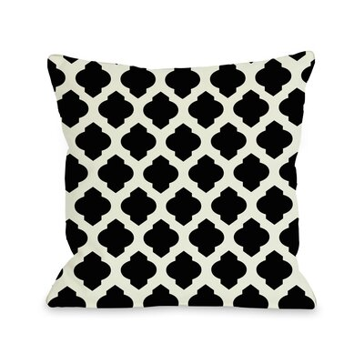 Flannigan Throw Pillow Size: 16 H x 16 W, Color: Palace Blue Ivory