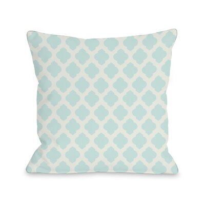 Flannigan Throw Pillow Size: 18 H x 18 W, Color: Fair Aqua