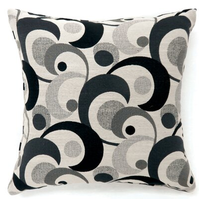 Straub Swirl Print Throw Pillow Color: Black, Size: Large