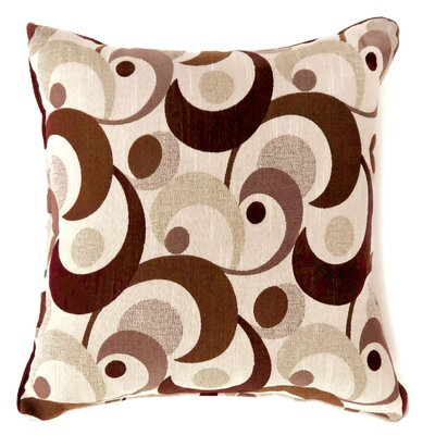 Straub Swirl Print Throw Pillow Size: Large, Color: Brown