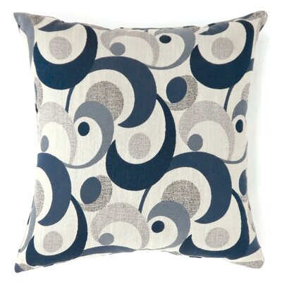Straub Swirl Print Throw Pillow Size: Large, Color: Blue