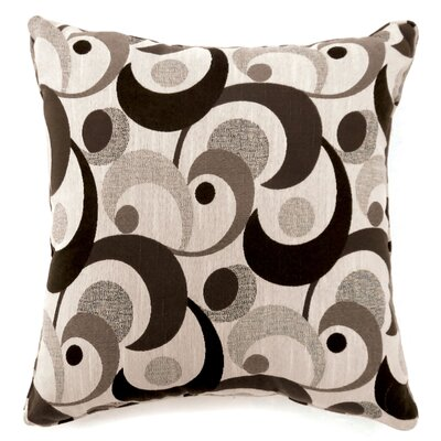 Straub Swirl Print Throw Pillow Size: Large, Color: Dark Brown