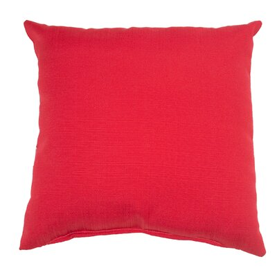 Mad Malts Outdoor Throw Pillow Fabric: Cherry Red