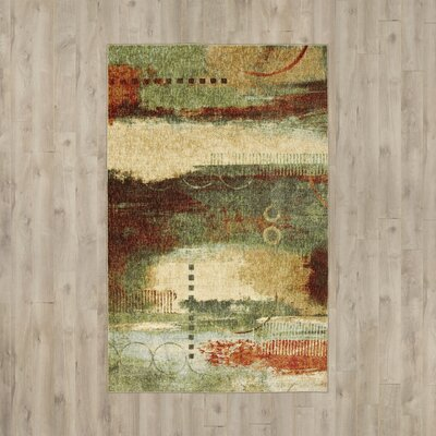 Bowes Green/Beige Area Rug Rug Size: Rectangle 76 x 11