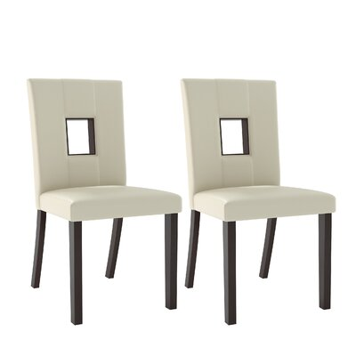Burgess Parsons Dining Chair Color: White