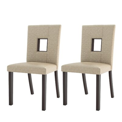 Burgess Parsons Dining Chair Color: Woven Cream