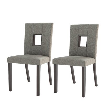 Burgess Parsons Chair Upholstery: Fabric - Grey Sand