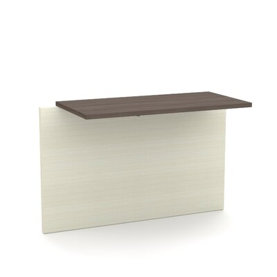 Bormann 30.4 H x 39.4 W Desk Bridge Finish: Chocolate/Antigua