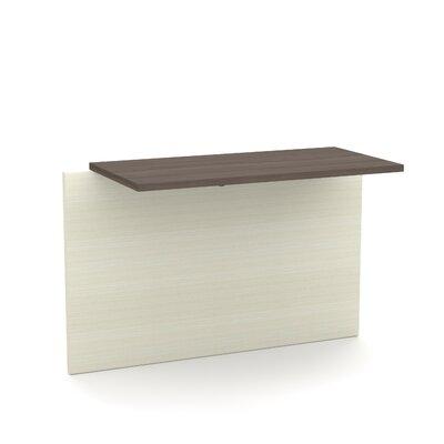Bormann 30.4 H x 39.4 W Desk Bridge Finish: Chocolate/Antigua