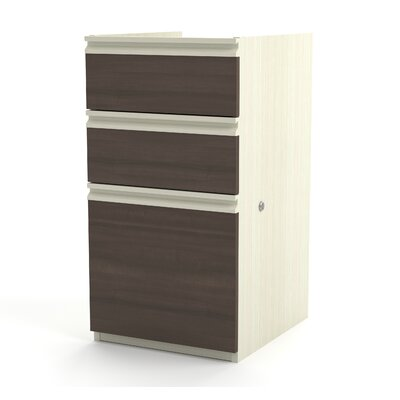 Bormann 29.4 H x 15.4 W Desk File Pedestal Finish: White Chocolate/Antigua