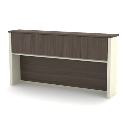 Bormann 36.44 H x 71.13 W Desk Hutch Finish: Chocolate/Antigua