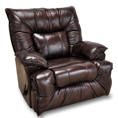 Mackinaw Leather Manual Rocker Recliner Color: Chocolate