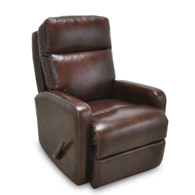 Alchemist Leather Rocker Recliner Color: Walnut