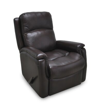 Mackey Leather Rocker Recliner Color: Earth