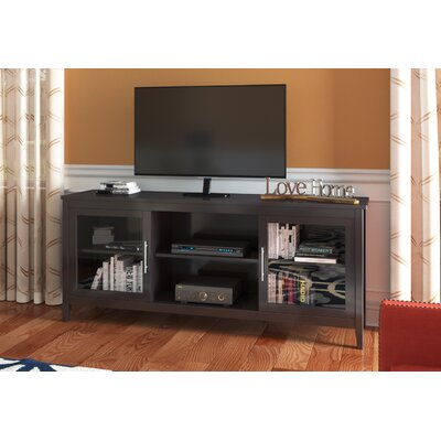 Starkville TV Stand Finish: Black Wood Grain