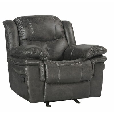 Glasgow Glider Recliner Upholstery Color: Steel
