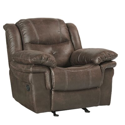 Glasgow Glider Recliner Upholstery Color: Coffee