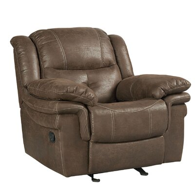 Glasgow Glider Recliner Upholstery Color: Slate