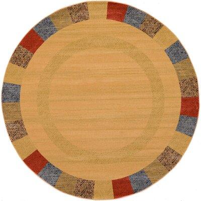Gifford Beige Area Rug Rug Size: Round 8
