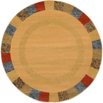 Gifford Beige Area Rug Rug Size: Round 6