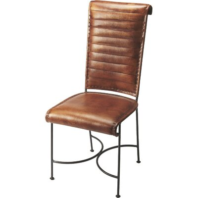 Galentine Genuine Leather Upholstered Dining Chair