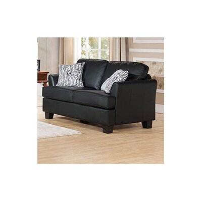Galbraith Loveseat Upholstery: Black