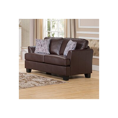 Galbraith Loveseat Upholstery: Brown