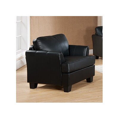 Galbraith Club Chair Upholstery: Black