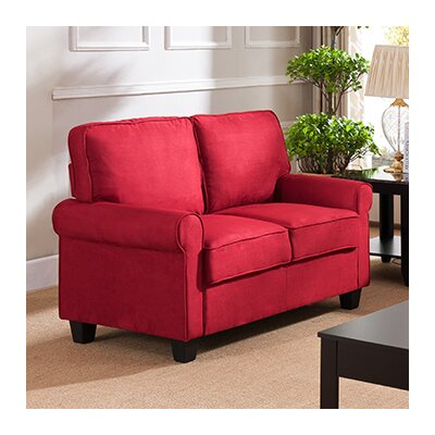 Ginther Loveseat Upholstery: Red