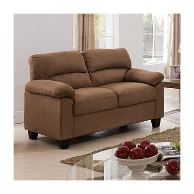 Girardeau Loveseat Upholstery: Brown