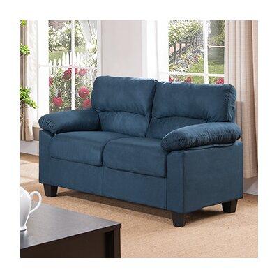 Girardeau Loveseat Upholstery: Blue