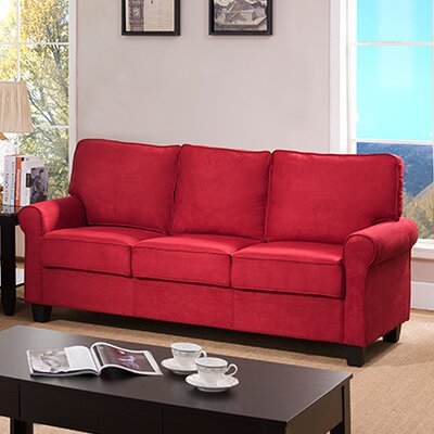 Ginther Sofa Upholstery: Red
