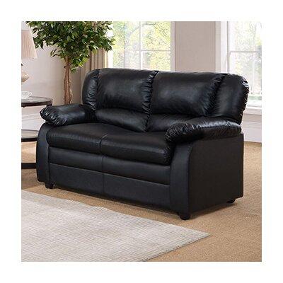 Givens Loveseat Upholstery: Black