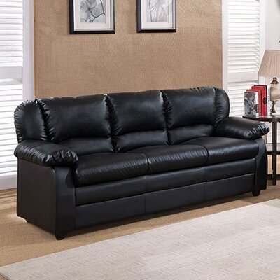 Givens Sofa Upholstery: Black