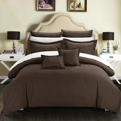 Seelye 11 Piece Comforter Set Size: King, Color: Brown