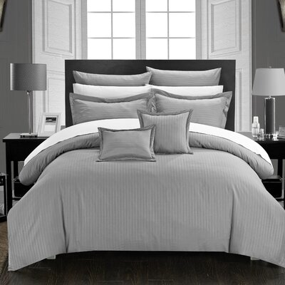 Seelye 11 Piece Comforter Set Size: Full/Queen, Color: Silver