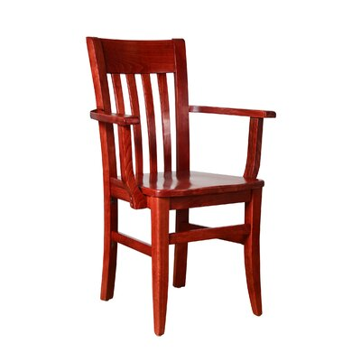 Besse Solid Wood Dining Chair Finish: Mahogany