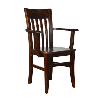 Baldemar Solid Wood Dining Chair Finish: Walnut