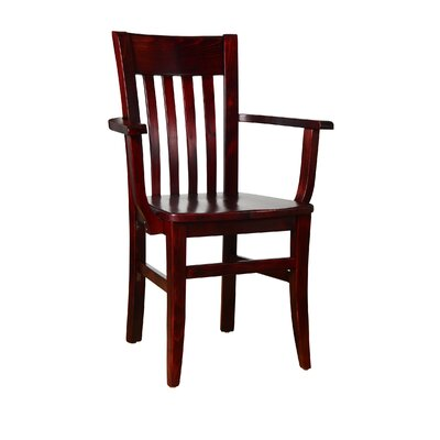 Besse Arm Chair Finish: Dark Mahogany