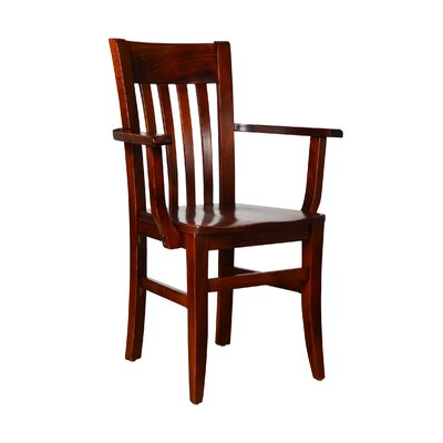 Baldemar Solid Wood Dining Chair Finish: Medium Oak