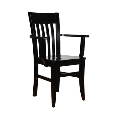 Baldemar Solid Wood Dining Chair Finish: Black